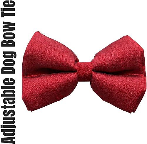 Lana Paws Crimson Red Dog Bow Tie/Dog Bowtie/Dog Gift (Adjustable)