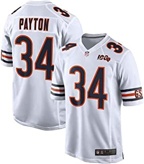Men's Chicago_Bears #34 Walter_Payton 100th Season Retired Limited Jersey (White, Small)