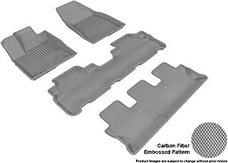 3D MAXpider Complete Set Custom Fit All-Weather Floor Mat for Select Toyota Highlander Models - Kagu Rubber (Gray)