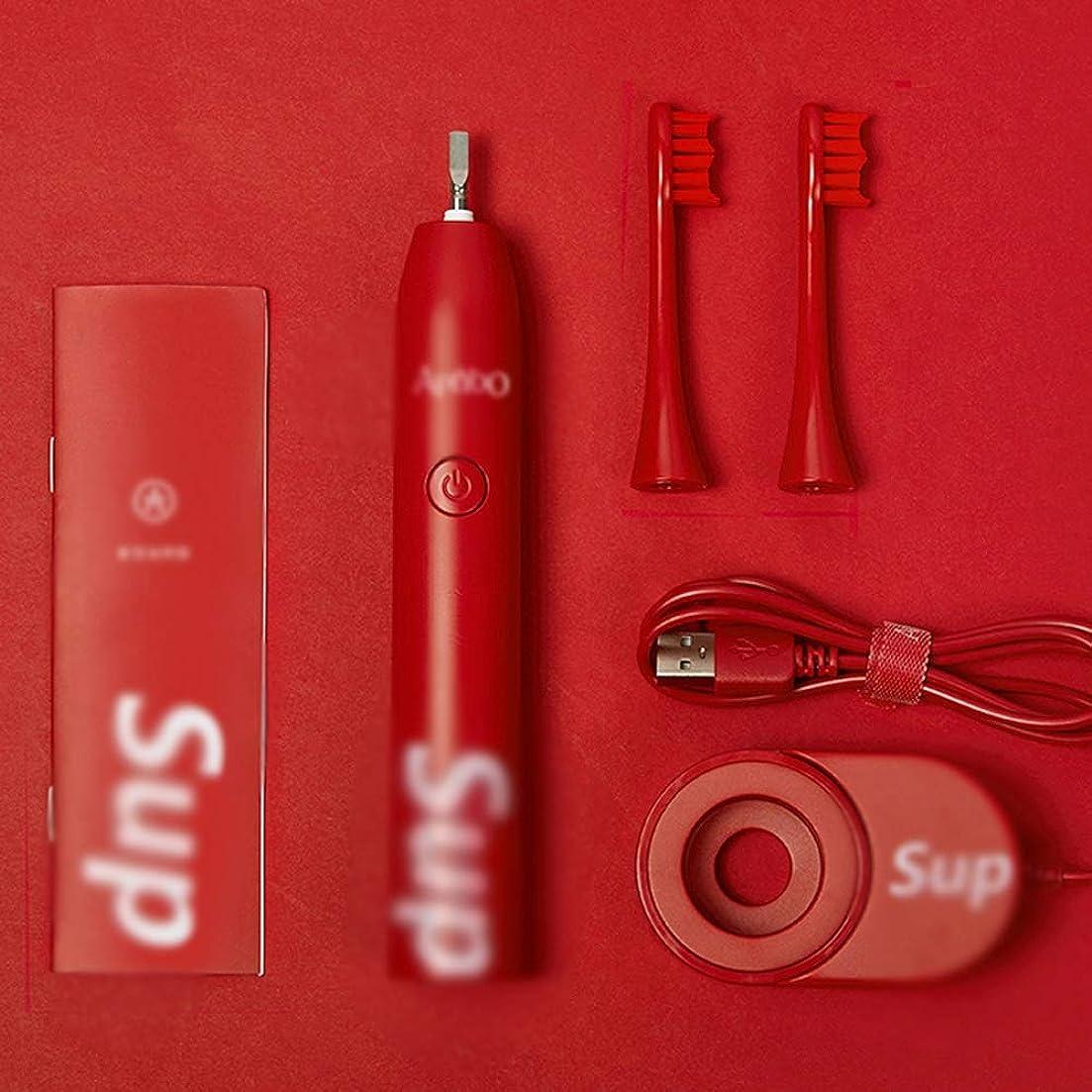 マウントバンク引き出す厳密にJia Xing 電動歯ブラシ赤く柔らかい髪電動歯ブラシヘッド超音波電動歯ブラシ充電器ブラケット 電動歯ブラシ (Color : Red)