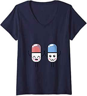 Womens Happy Pharmacist Pill Funny Pharma Appreciation Gifts V-Neck T-Shirt