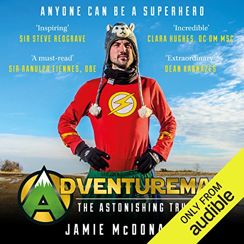 Adventureman audiobook cover art
