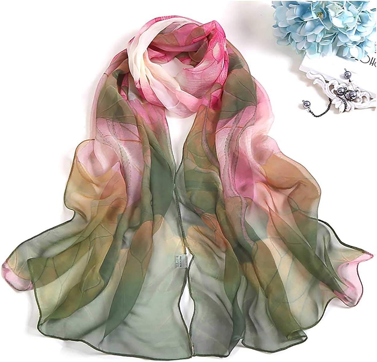 Scarfs for Women Lightweight Print Floral Pattern Scarf Shawl Fashion Scarves Sunscreen Shawls