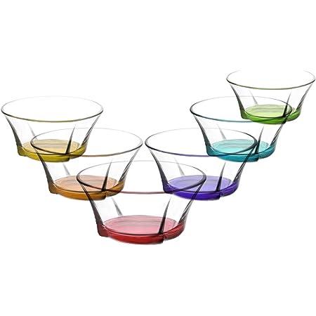 Design moderne et /él/égant puddings LAV Lot de 6 bols /à dessert en verre transparent de 283,5 g pour desserts snacks glaces accompagnements sauces