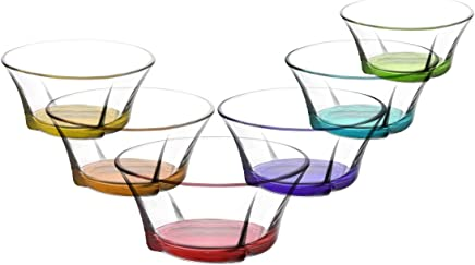 Preisvergleich für Bunte Glasschalen Schalen Glasschale Dessertschale Vorspeise 310cc. 6 Stk