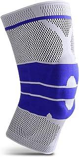 Eastdall Joelheiras de compressão Protetor de Joelho com Gel de Silicone e Spring Fitness Protetor de Joelho Respirável Ma...