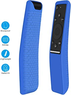 Silicone Protecitve Case Cover Holder Compatible for Samsung Smart TV Remote Controller of BN59 Series,Light Weight[Anti-Lost] Soft Anti Slip Shockproof Remote Control Skin Sleeve Protector-Blue