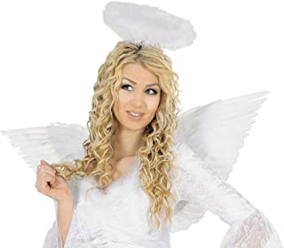 b96a3d83778e NET TOYS Aureola di colore bianco per travestimento da angelo accessorio  costume creatura angelica