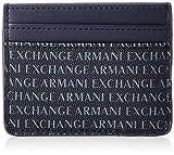 Armani Exchange Credit Card Holder, Portefeuilles homme, Bleu (Navy), 8x0.4x10 cm (B x H T)