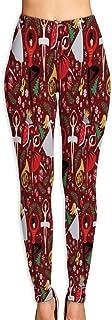 Nutcracker Ballet Christmas Xmas Flower Yoga Pants Women's Stretch Leggings Breathable High Waist Trousers Sportswear
