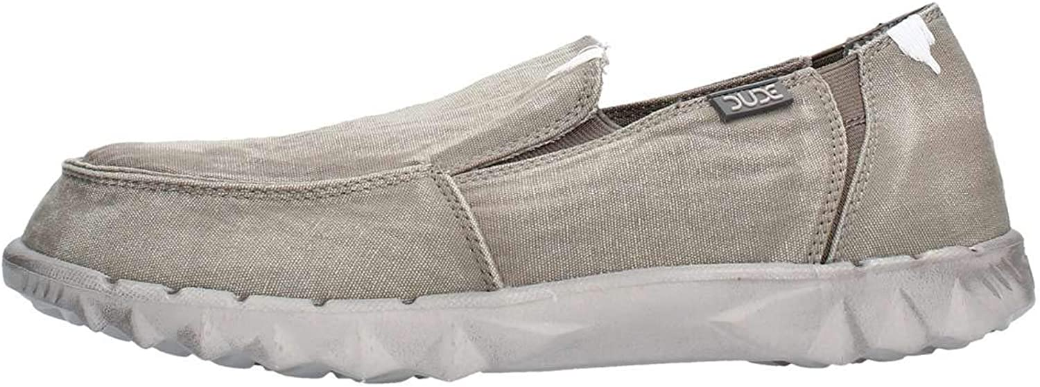 Dude shoes Hey Men's Farty Washed Dark Grey Slip On Mule