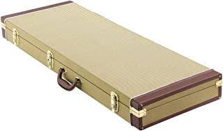 Yaheetech Deluxe Electric Guitar Case Tweed,Gold