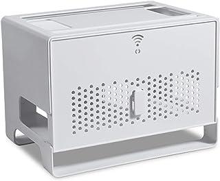 MNBVH Caja de Almacenamiento Router WiFi, Caja para Router y Cables Zócalo Blindaje Caja, Ocultar TV Cables Decoracion Caj...