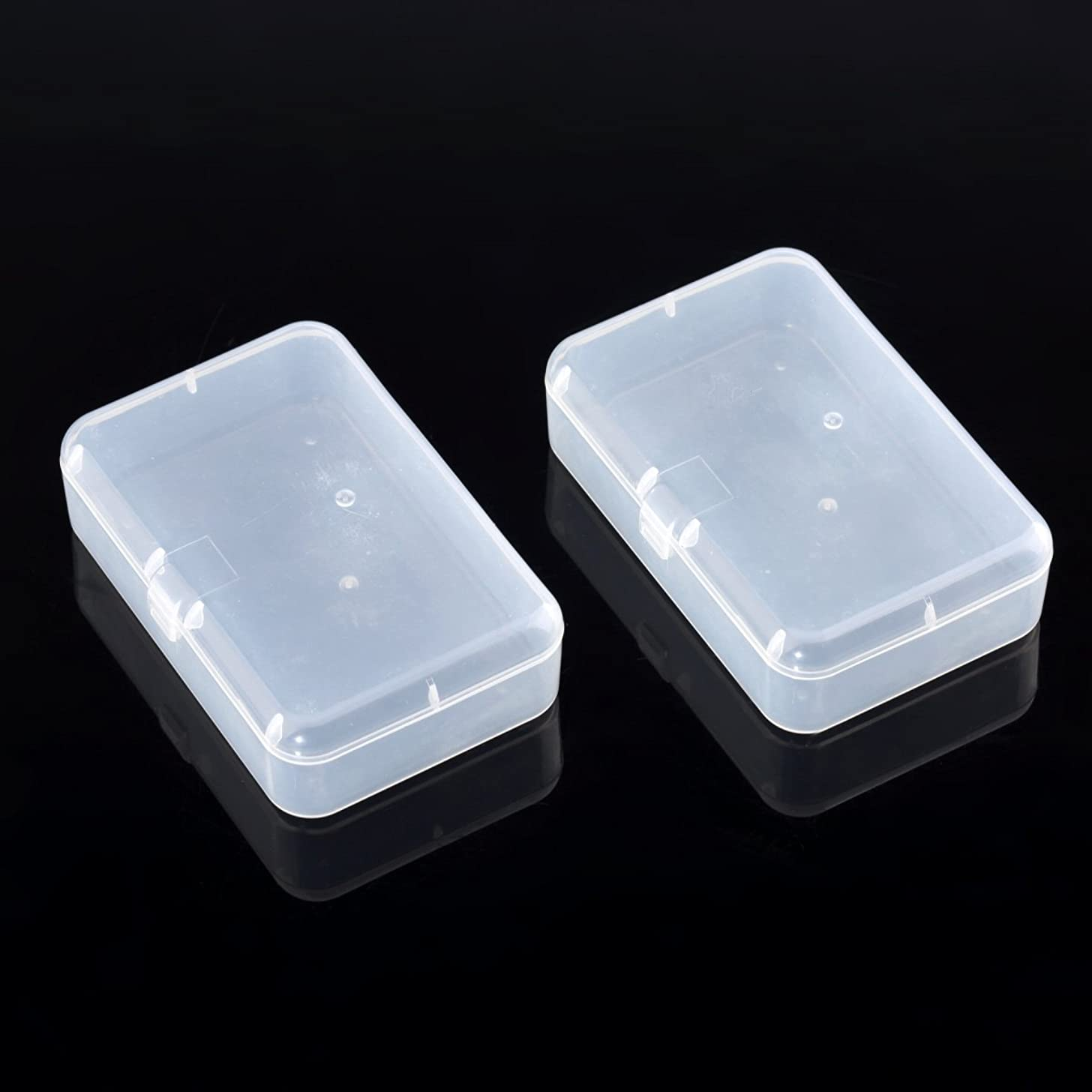 Musiclily Transparent Plastic Acoustic Electric Guitar Pick Holder Case Storage Box (Pack of 2)