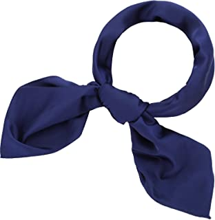 Satinior Chiffon Scarf Square Handkerchief Satin Ribbon Scarf Neck Scarf for Women Girls Ladies Favor (27.56 x 27.56 inche...
