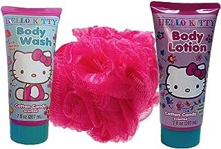 Hello Kitty Bath Sets Bundle 3pcs include Body Wash, Body Lotion and Bath Sponge