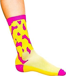 "Cosmic Socks 6"" Pink Blot, Cycling Socks Size 6-11"