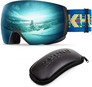 KHUNO Jaeger Ski Goggles - Ski & Snowboard Goggles with Premium Toric Mag-Lens System & OTG Design. Designed and Developed in United States