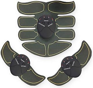 FLY FLU Estimulador Muscular, Estimulador Muscular Abdominales Maquina Abdominales Electroestimulacion - para Hombres/Mujeres Electrica En Casa, Brazo Cintura Fitness Training Gear,Brown
