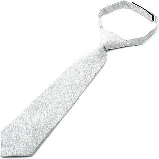 """Kids Cotton Formal Necktie Tie Chambray Texture - 2 1/2"""" Width"""
