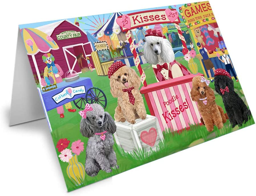 Carnival Kissing Booth Sale item Poodles Dog Max 54% OFF Greeting Card GCD69953 20