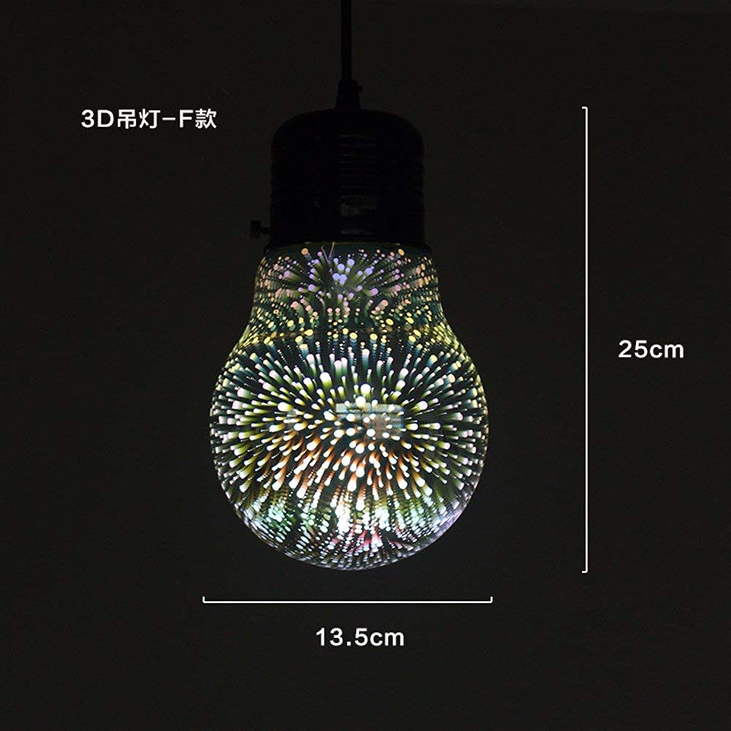 Shengdasm Home NeuesteD Farbe Glas Kronleuchter kreative Kunst Lampen (Farbe   F 25x13.5cm)