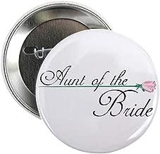 CafePress Elegant Aunt Of The Bride Button 2.25