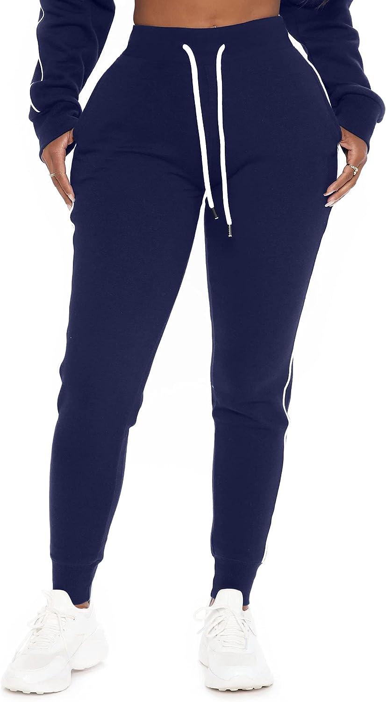 POSESHE Women L-5XL Plus Ranking TOP9 Size High Drawstring Sweatpants Genuine Waisted