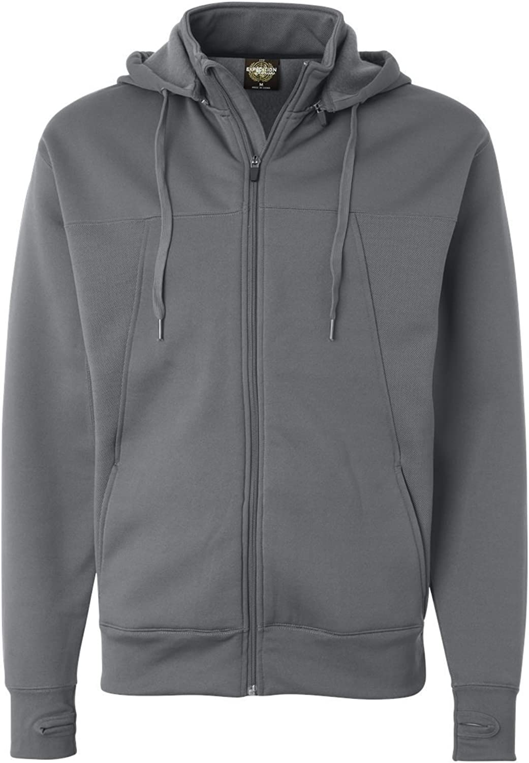 Independent Trading Co. Mens HiTech FullZip Hooded Sweatshirt  Charcoal  M