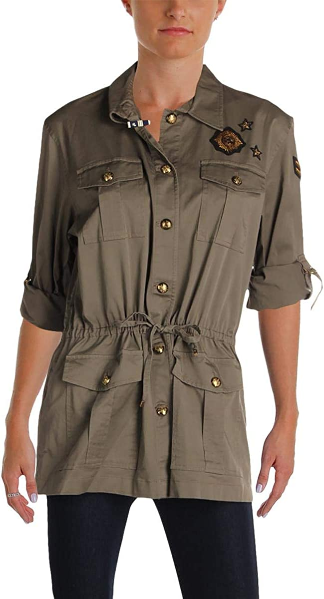 LAUREN RALPH Women's Embroidered Sale Patch Free Shipping New Jacket
