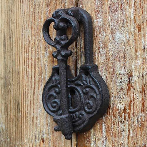 CKH Europäische Cast Iron Crafts Vintage Türklopfer Eisen Türgriff Gartenhaus Wand Dekoration Alten Schlüssel