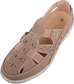 Absolute Footwear Womens Casual Wide Fitting Elasticated Summer/Holiday Shoes/Sandals