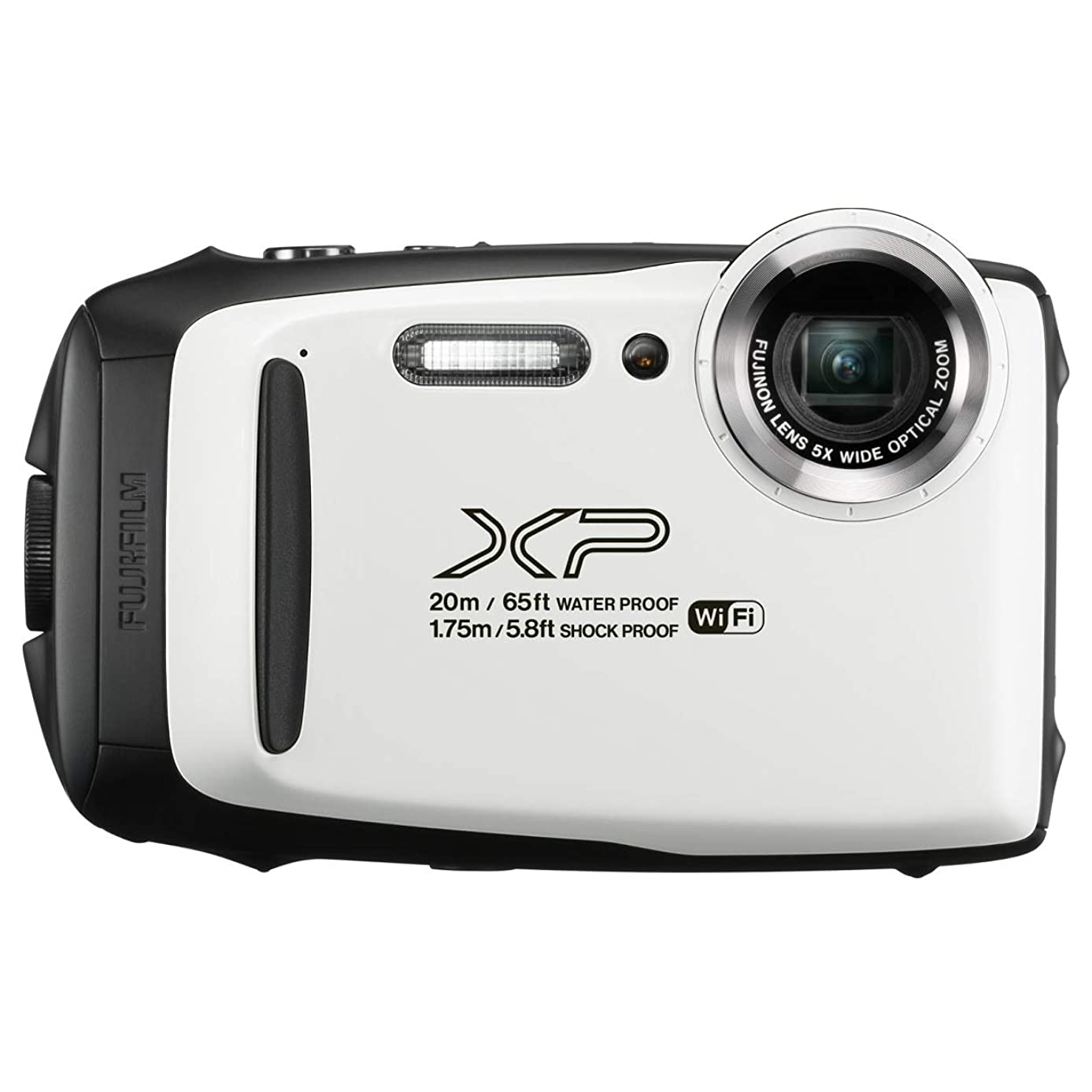 Fujifilm FinePix XP130 Waterproof Rugged Digital Camera (White) (Renewed)