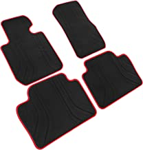 iallauto All Weather Floor Liners Custom Fit BMW 3 Series F30 320i 328i 335i 2012-2018 Heavy Duty Rubber Car Mats Vehicle Carpet Odorless-Black Red