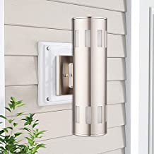 Cerdeco Hamilton Modern Porch Light [ UL-Listed ] Stainless Steel Satin Nickel Finished Outdoor Wall Lamp Weather-Proof Cy...
