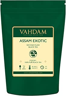 VAHDAM, 2019 Harvest Assam Tea Leaves with Golden Tips, 3.53 Oz (50 Cups) - Strong, Malty & Rich - Exotic Assam Tea Loose Leaf - 100% Certified Pure Assam Black Tea - English Breakfast Tea