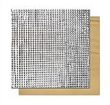 SOOWAY - Pannello isolante termico adesivo in cotone e lamina di schiuma leggera per hotbed di stampante 3D, compatibile con Creality CR-10S, CR-10, Ender 3, Anet E12, Anet A8, 220*220mm, Argento, 1