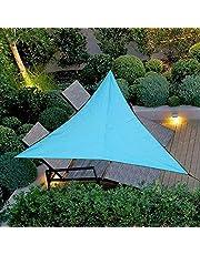 Uni-Wert Zonnezeil driehoekig 4 x 4 x 4 m blauw PES polyester UV-bescherming waterdicht zonnezeil zonwering tuin balkon terras buiten