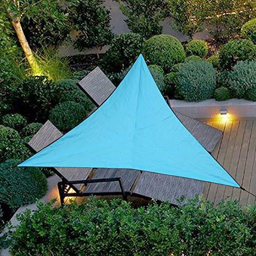 Uni-Wert Sonnensegel Dreieckig 4 x 4 x 4 m Blau PES Polyester UV-Schutz Wasserdicht Sun Segel Sonnenschutz Garten Balkon Terrasse Im Freien