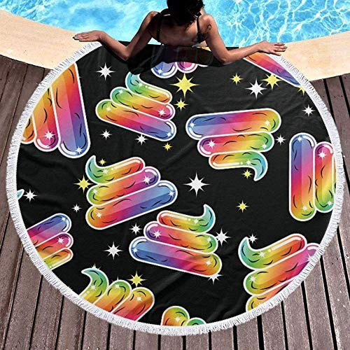 Aspiradora de Mano Round Tapestry Beach Towels,Fable Swirls Large Tassel Beach Tapestry Hippie Cotton Tablecloth White Lined Towel Yoga Microfibermat Shawl Rug Scarf Picnic Blanket