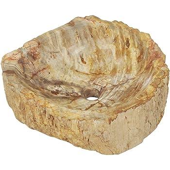 Festnight Lavabo Piedra Fregadero Piedra Fósil para Baño y Jardin Piedras Decorativas Color Crema 45x35x15 cm: Amazon.es: Hogar