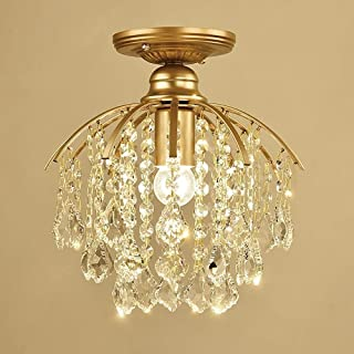 Mopoq Simple Maple Leaf Transparent Crystal Ceiling Chandelier Light Gold Modern Luxury Embedded Lamps Kitchenware Iron Cl...