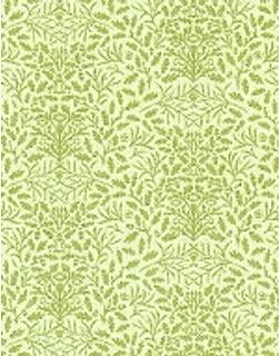 Melody Jane Dollhouse William Morris Design Acorns Miniature Print 1:24 Wallpaper Green