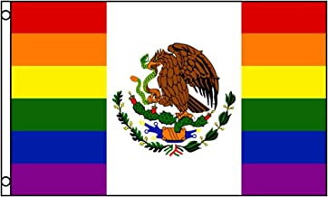 3X5 Mexico Rainbow Gay Pride Flag 3'X5' House Banner Brass Grommets