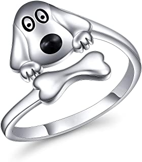 YinShan S925 Sterling Silver Adjustable Animal Rings Jewelry Gift for Women