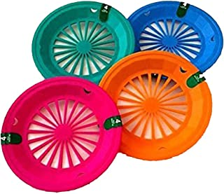 (16 Pack) Reusable Plastic Paper Plate Holders for 9