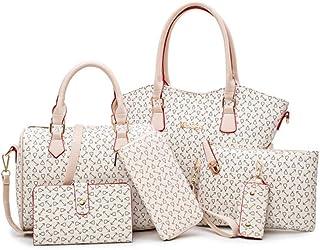 Women Bags Leather Handbags Shoulder Bag Female Purse High Quality 6-Piece Set