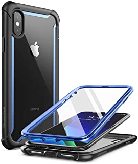 i-Blason iPhone Xs Case, iPhone X Case, i-Blason [Ares] Full-Body Rugged Clear Bumper Case with Built-in Screen Protector ...