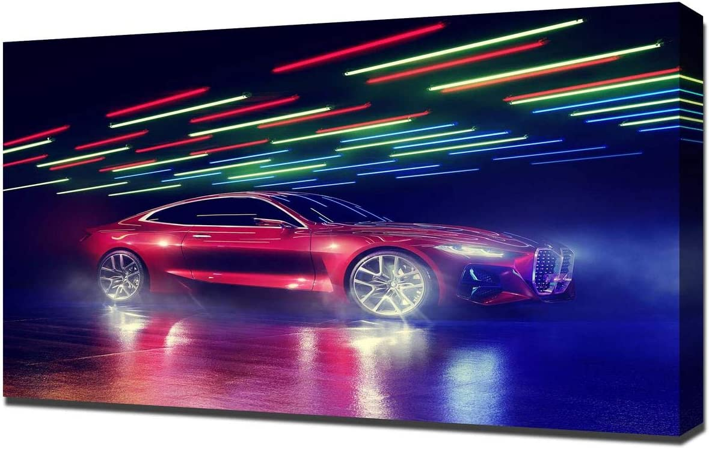 Lilarama (Compatible with 2019-BMW-Concept-4-V3- Art Leinwandbild – Kunstdrucke – Gemälde Wandbilder