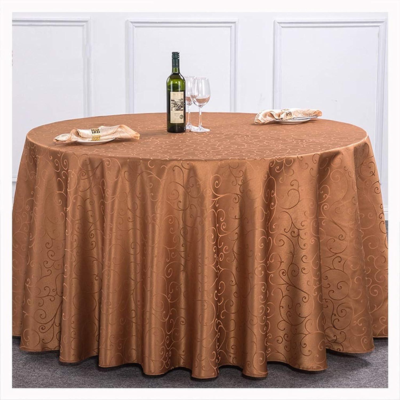 NIUZIMU Manteles Mantel Hotel Restaurante Sala de Estar Europeo Minimalista Moderno Mesa de Comedor Mesa de Centro Mantel Rectangular -099 (Color   marrón, Talla   240cm)
